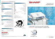 network multifunction offers security and smooth workflow - Sharp ...