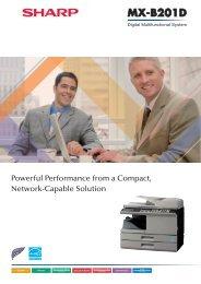 MXB201D Catalogue - Sharp Corporation of New Zealand