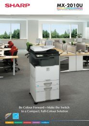 MX2010U Brochure - Sharp Corporation of New Zealand