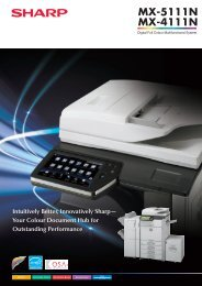 MX5111N Brochure - Sharp Corporation of New Zealand