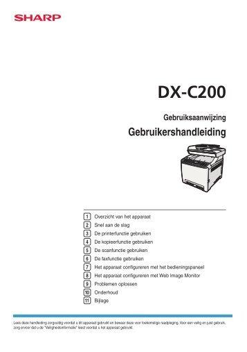 DX-C200 Operation-Manual NL - Sharp