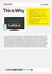 LC-40LE630E-LCD TV - Sharp Electronics
