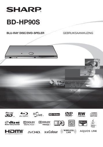 BD-HP90S Operation-Manual NL - Sharp