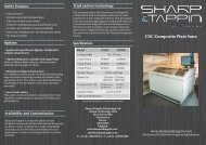 Composite plate saw brochure - Sharp & Tappin Technology Ltd