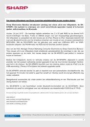 Press release - Sharp