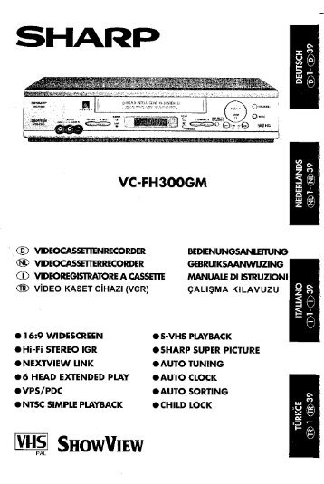 VC-FH300GM Operation-Manual NL - Sharp
