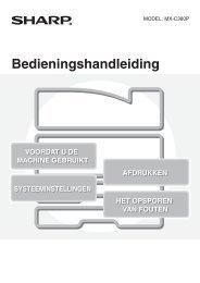 MX-C380P Operation-Manual NL - Sharp