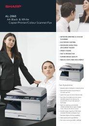 Download Sharp Al-2060 Brochure - Black & White Photocopiers