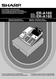 ER-A160/A180 Operation-Manual GB - Sharp