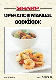 R-390H Operation-Manual Cookbook GB - Sharp