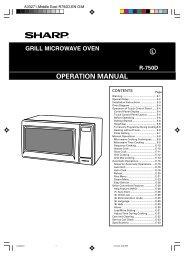 R-750D Operation-Manual GB - Sharp