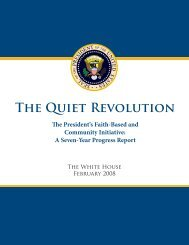 The Quiet Revolution (Entire Report in PDF) - the White House