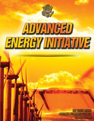 President's Advanced Energy Initiative - the White House