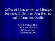 Office of Management and Budget Proposed ... - the White House