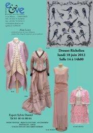 Drouot Richelieu lundi 18 juin 2012 Salle 14 à 14h00 - ARTCOVER