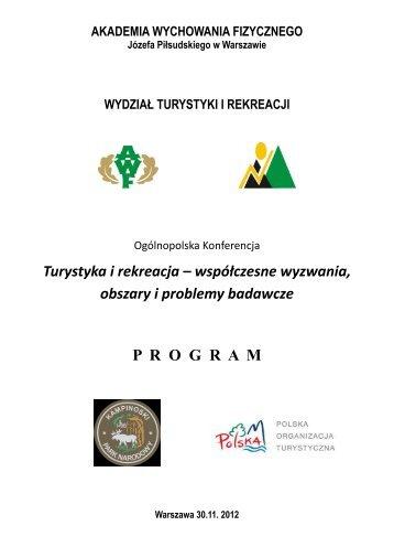 Program konferencji - Akademia Wychowania Fizycznego