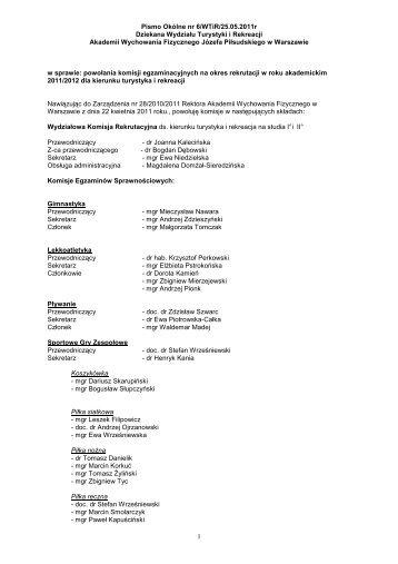 6_Komisja rekrutacyjna - Akademia Wychowania Fizycznego