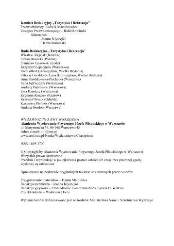 TiR strona internetowa - Akademia Wychowania Fizycznego