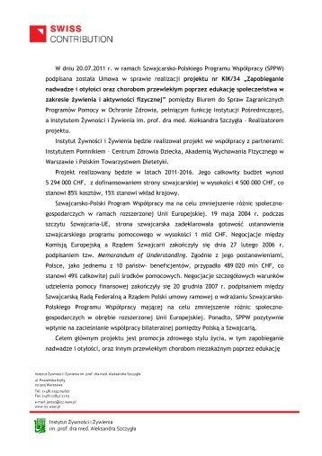 inf. na stronę internetową - Akademia Wychowania Fizycznego