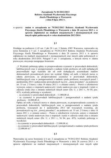 Uchwała Nr 60/2008/2009 - Akademia Wychowania Fizycznego