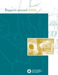 Rapport annuel 2002 - Conseil canadien pour la coopération ...