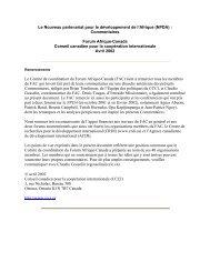 Le Nouveau partenariat pour le développement de l'Afrique \(NPDA\) :