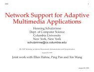 Network Support for Adaptive Multimedia Applications - Computer ...