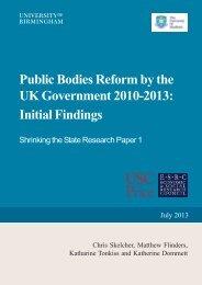 Public Bodies Reform - University of Sheffield
