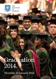 Thursday 16 January - The University of Sheffield