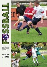Ausgabe II / 2005 - Schleswig-Holsteinischer Fussballverband eV
