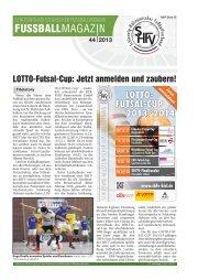FUSSBALLMAGAZIN - Schleswig-Holsteinischer Fussballverband eV