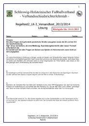 Regeltest 2 LK-3 2013-2014 - Schleswig-Holsteinischer ...