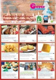 Festtags-Empfehlungen November/Dezember 2013 - Geyer Food ...