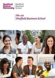 Weare SheffieldBusinessSchool - Sheffield Hallam University