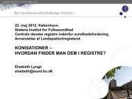 Endelig ansøgning 12. maj 2011 - Statens Institut for Folkesundhed