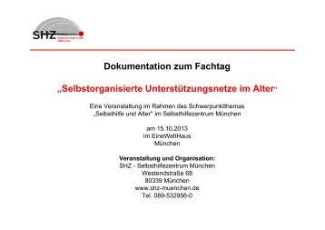 Dokumentation zum Fachtag - Selbsthilfezentrum München