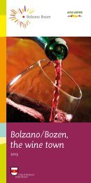 Bolzano/Bozen, the wine town