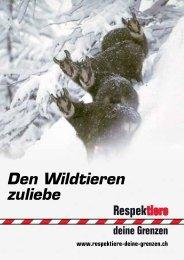 Den Wildtieren zuliebe. Respektiere deine Grenzen - Rigi