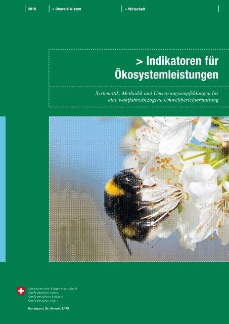 Indikatoren für Ökosystemleistungen: - Schweizer ...