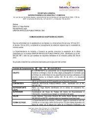 Señora: María Luz Vega Adarme Representante Legal DAMTON ...