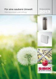 Wärmepumpen 2013 - Siblik Elektrik GmbH & Co. KG