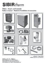 Matériel d'installation et accessoiresSIBIRtherm