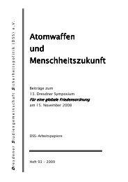Atomwaffen und Menschheitszukunft - DSS
