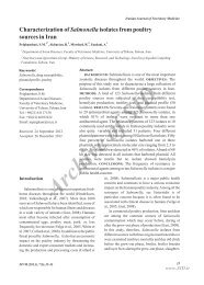 CHARACTERIZATION OF SALMONELLA ISOLATES FROM ...
