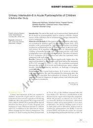 urinary interleukin-8 in acute pyelonephritis of children a before ... - Sid