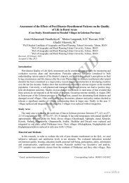 assessment of the effects of post disaster resettlement patterns ... - Sid