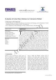 Evaluation of Cotton Fibers Stickiness by Colorimetric Method