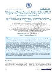 effectiveness of relapse prevention cognitive- behavioral model ... - Sid