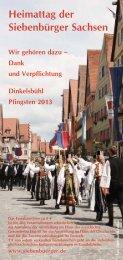 Programmheft 2013 - Siebenbuerger.de