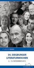 Programm der 34. Siegburger Literaturwochen (pdf )